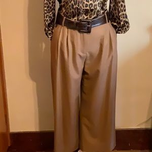 J CREW lined trousers 💯 wool elastic waist Size 6